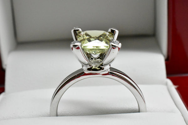 SOLD 2.35 Ct. Natural Zultanite & .12 Ct. Diamond Solitaire Style Ring 14k Solid Gold Cert Of Auth Dr0294