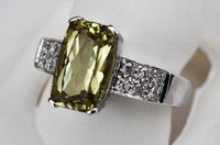 3.35 Ct Zultanite® .21 Ct. Diamond Ring 14k Solid Gold Rare Natural Sz 7 TR4406