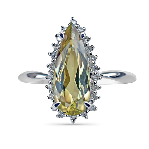 2.27 Ct. Zultanite® .11 Ct. Diamond Ring 14k Solid Gold NWT Natural Sz 7 BR03211