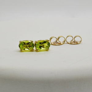 SOLD .90 Ct. Canary Tourmaline Stud Earrings in 10k Solid Gold