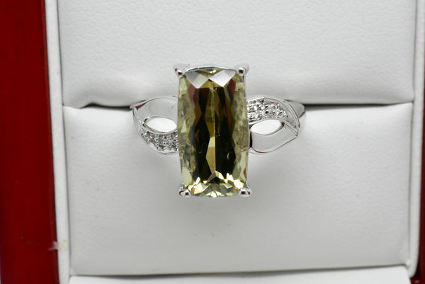 4.42 Ct. Natural Zultanite & .03 Ct. Diamond Ring 14k Solid Gold Cert Of Auth BR05324
