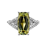 2.83 Ct. Natural Zultanite & .12 Ct. Diamond Ring 14k Solid Gold Cert Of Auth BR03647