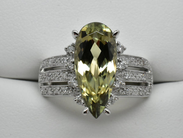 SOLD 3.93 Ct. Zultanite & .14 Ct. Diamond Ring 14k Solid Gold Cert Of Auth BR003095