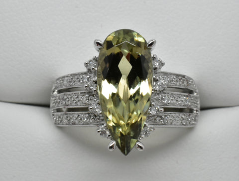 3.93 Ct. Zultanite & .14 Ct. Diamond Ring 14k Solid Gold Cert Of Auth BR003095