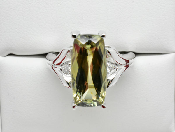 4.43 Ct. Natural Zultanite & .04 Ct. Diamond Ring 14k Solid Gold Cert Of Auth BR08130