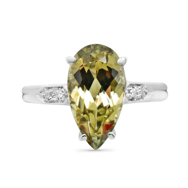 3.67 Ct. Zultanite® .02 Ct. Diamond Ring 14k Solid Gold NWT Natural Sz 7 BR04254