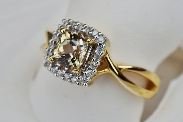 .78 Ct. Cushion Cut Zultanite® .12 Ct. Diamond Ring 14k Solid Gold NWT BR08969