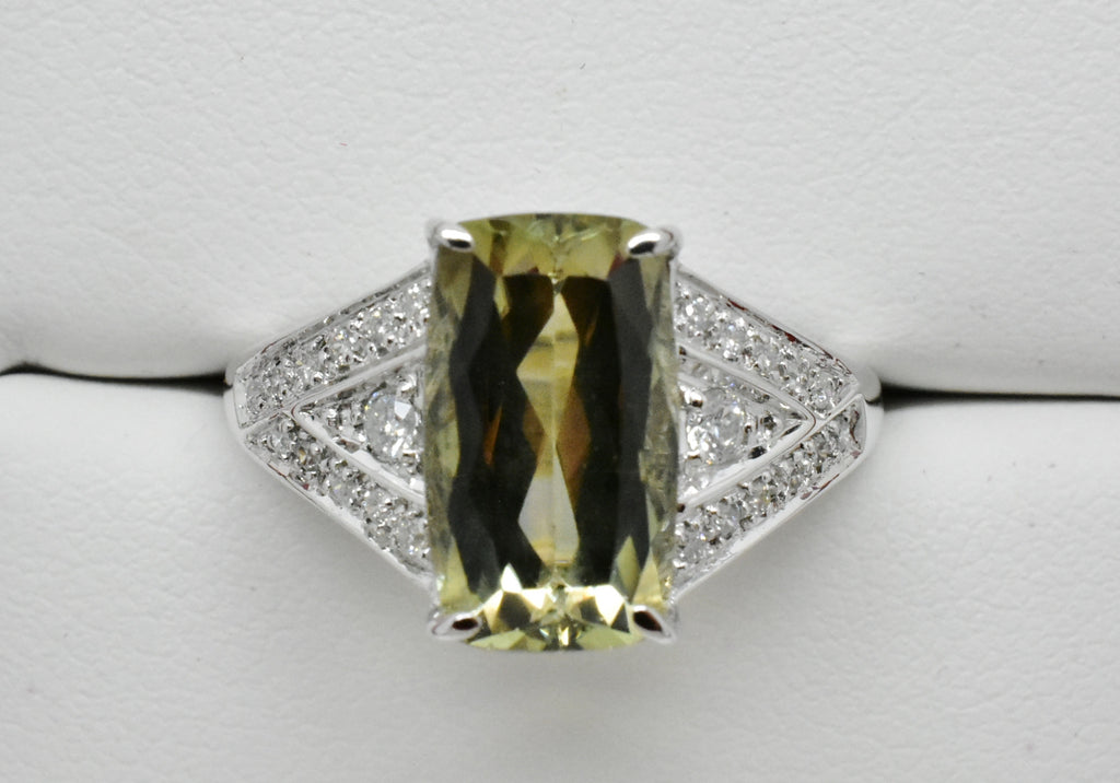 3.48 Ct. Zultanite & .19 Ct. Diamond Ring 14k Solid Gold Cert Of Auth BR03122