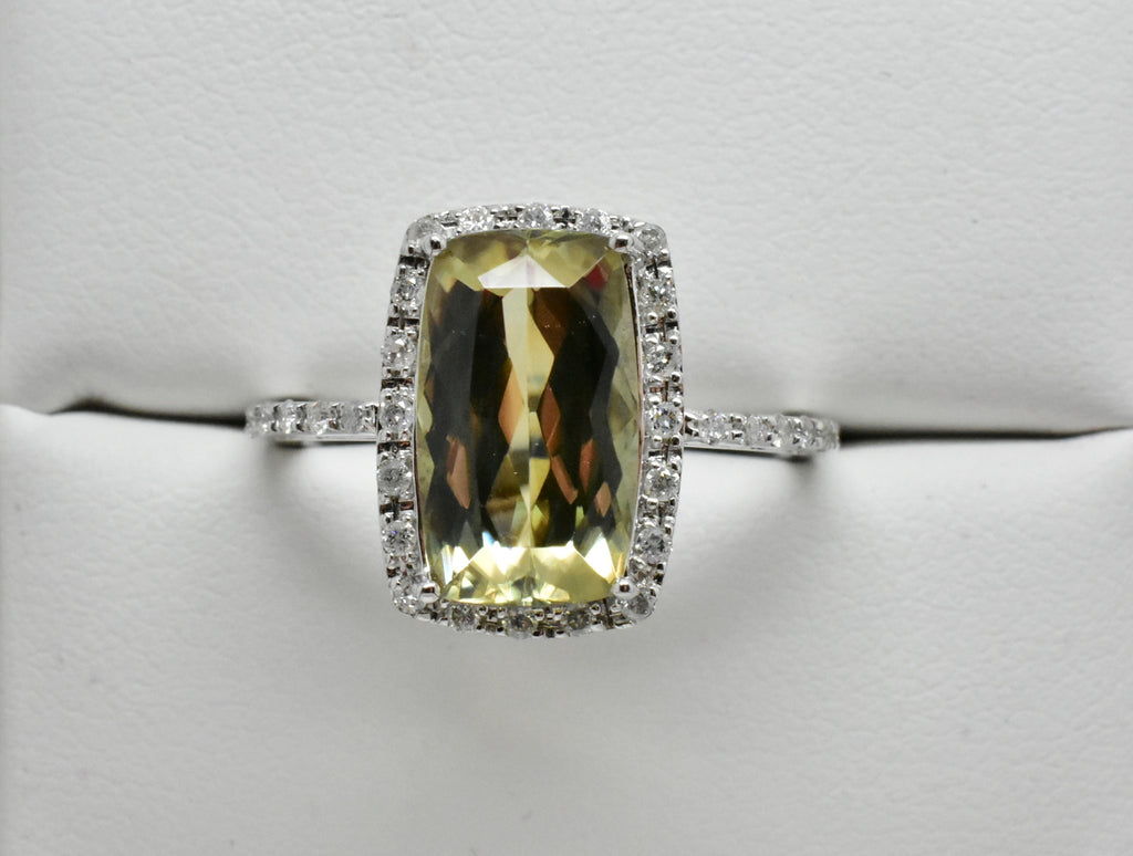 SOLD 3.26 Ct. Natural Zultanite & .20 Ct. Diamond Halo Style Ring 14k Solid Gold Cert Of Auth Ra00771