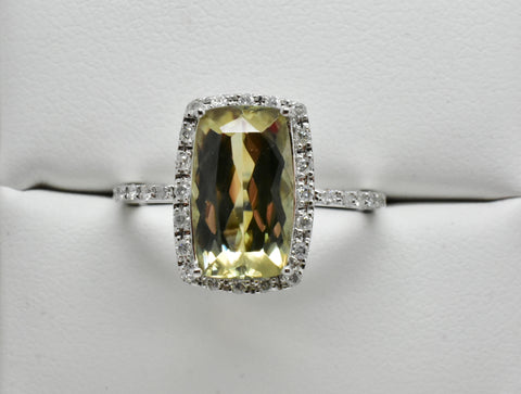 3.26 Ct. Natural Zultanite & .20 Ct. Diamond Halo Style Ring 14k Solid Gold Cert Of Auth Ra00771
