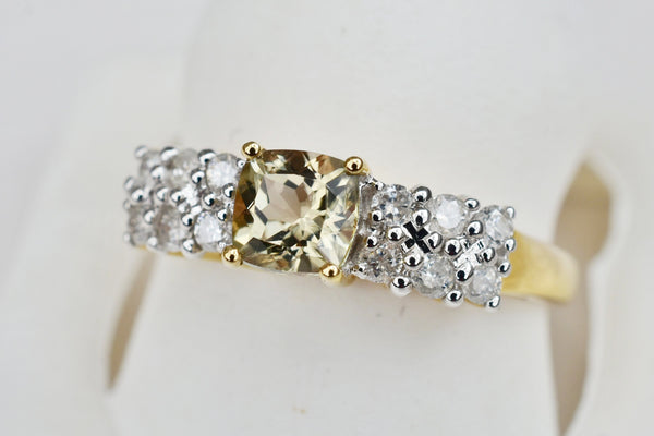0.72 Ct. Natural Zultanite & .30 Ct. Diamond Ring 14k Solid Gold Cert Of Auth TR7486