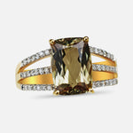 2.88 Ct Zultanite® .18 Ct. Diamond Ring 14k Solid Gold Rare Natural Sz 7 YG RA00187