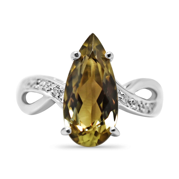 3.22 Ct. Natural Zultanite & .04 Ct. Diamond Ring 14k Solid Gold Cert Of Auth BR04594