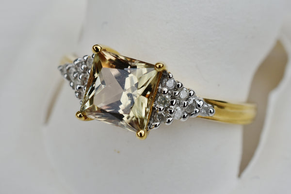 1.32 Ct. Zultanite & .11 Ct. Diamond Ring 14k Solid Gold Cert Of Auth BR03767