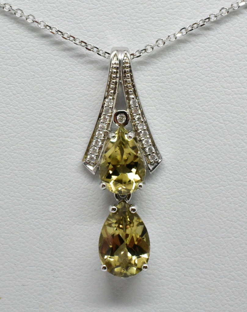 3.53 Cttw. Natural Zultanite & .09 Ct. Diamond Pendant 14k Solid gold Cert Of Auth PG012684