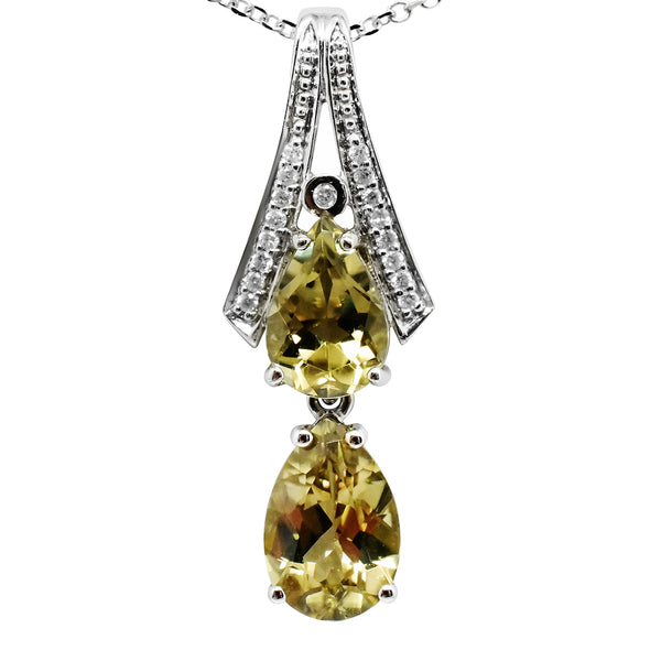 SOLD 3.53 Cttw. Natural Zultanite & .09 Ct. Diamond Pendant 14k Solid gold Cert Of Auth PG012684