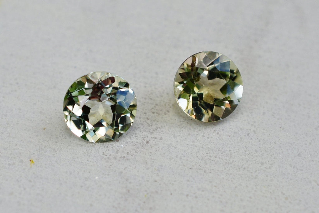 .94 Cttw Pair of  Zultanite Natural Loose Gems 4.5mm Round Cut Cert of Auth B039
