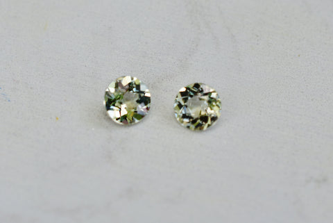 .94 Cttw. Natural Zultanite Loose Gem Gemstone Pair - 5.1mm Round Cut Cert Of Auth B040