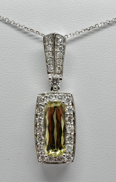4.2 Ct. Natural Zultanite & .97 Ct. Diamond Pendant Cert Of Auth BP06270