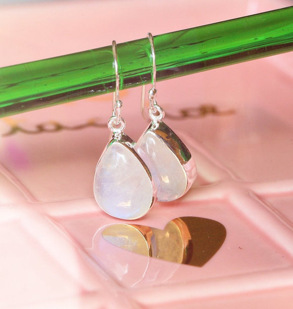 Omaja Rainbow Moonstone Earrings - 1.25
