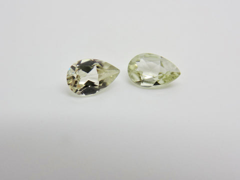Pair Of .66 Cttw Natural Zultanite Loose Gems Gemstones - 6x4mm Pear Cut W Cert Of Auth #b047