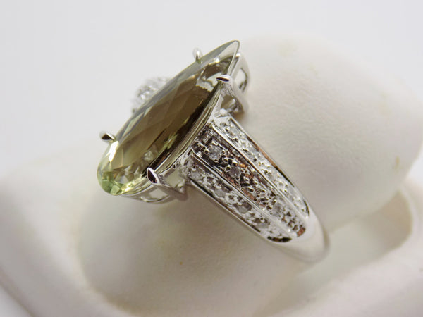 2.05 Ct. Natural Zultanite & .12 Ct. Diamond Ring 14k Solid Gold Cert Of Auth Br03096