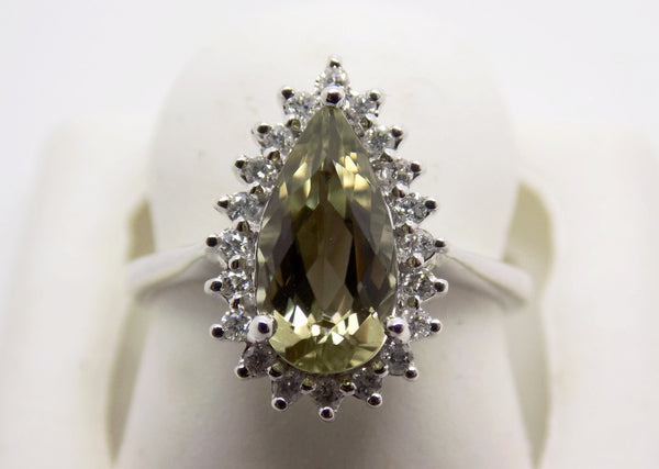 2.16 Ct. Natural Zultanite & .20 Ct. Diamond Ring 14k Solid Gold Cert Of Auth TR9314
