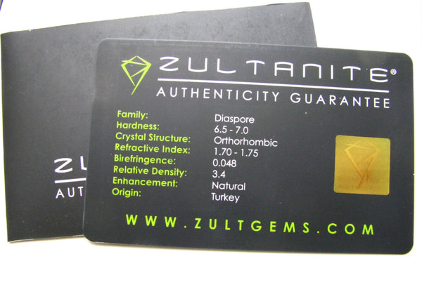 SOLD .35 Ct. Zultanite Loose Gemstone (Diaspore) 6x3.5mm Precision Oval Brilliant Cut Cert of Auth E005