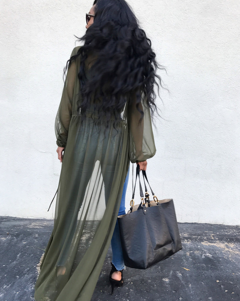 SHEER WATERFALL DUSTER