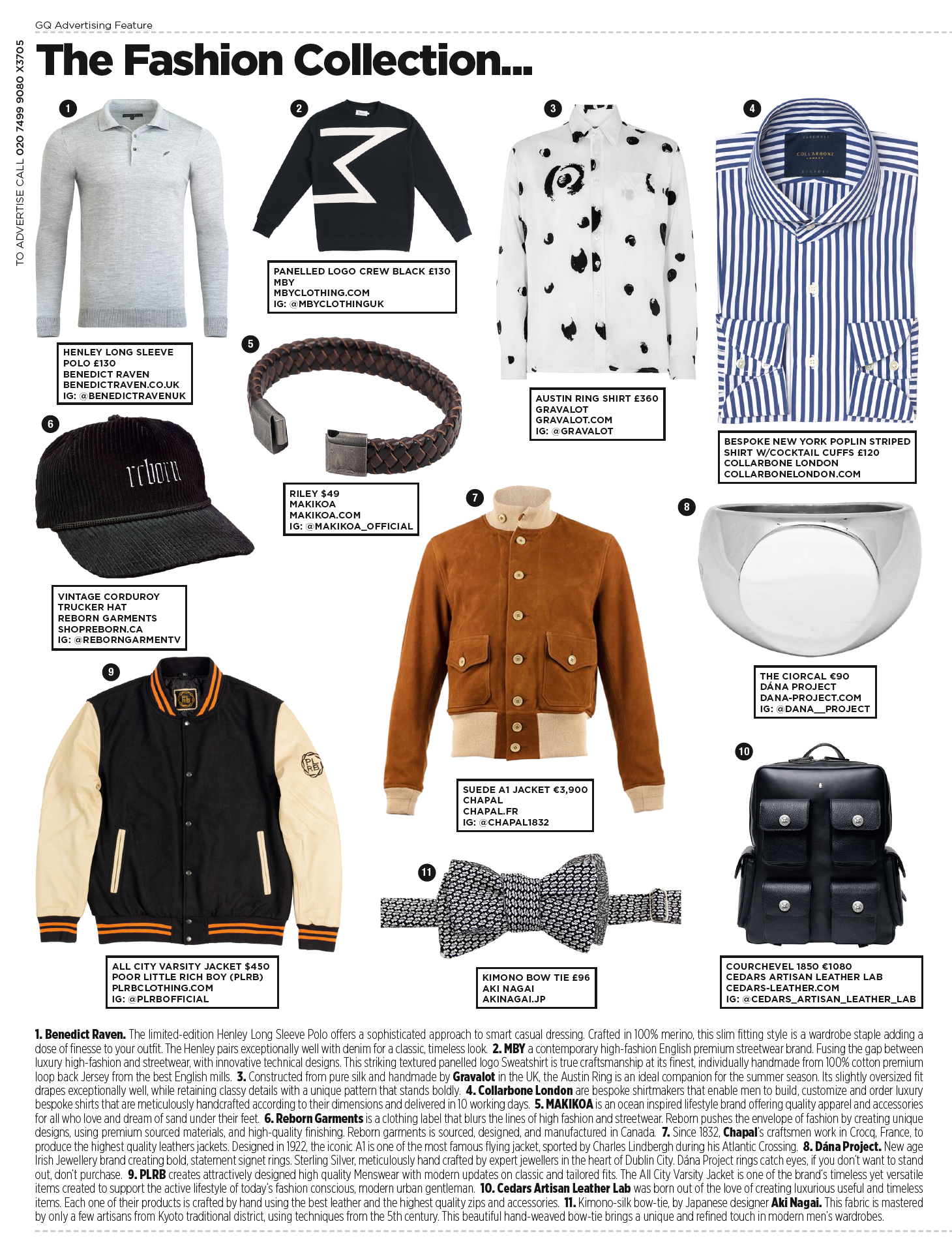 PLRB in British GQ Magazine