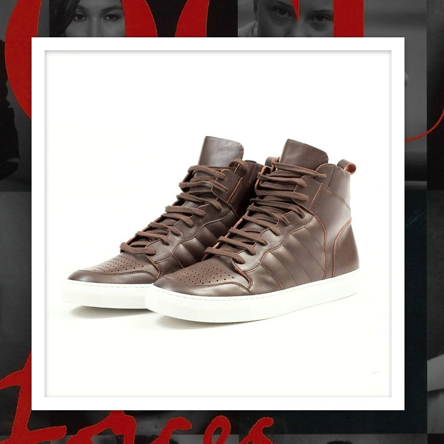 The PLRB Knoxx Hi-Top Leather Sneakers