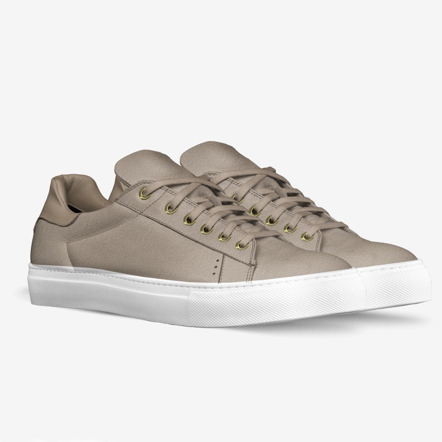 Poor Little Rich Boy Lorenzo Sneakers in Berkeley Beige - Poor Little Rich Boy Men's Shoes - Plrbclothing.com