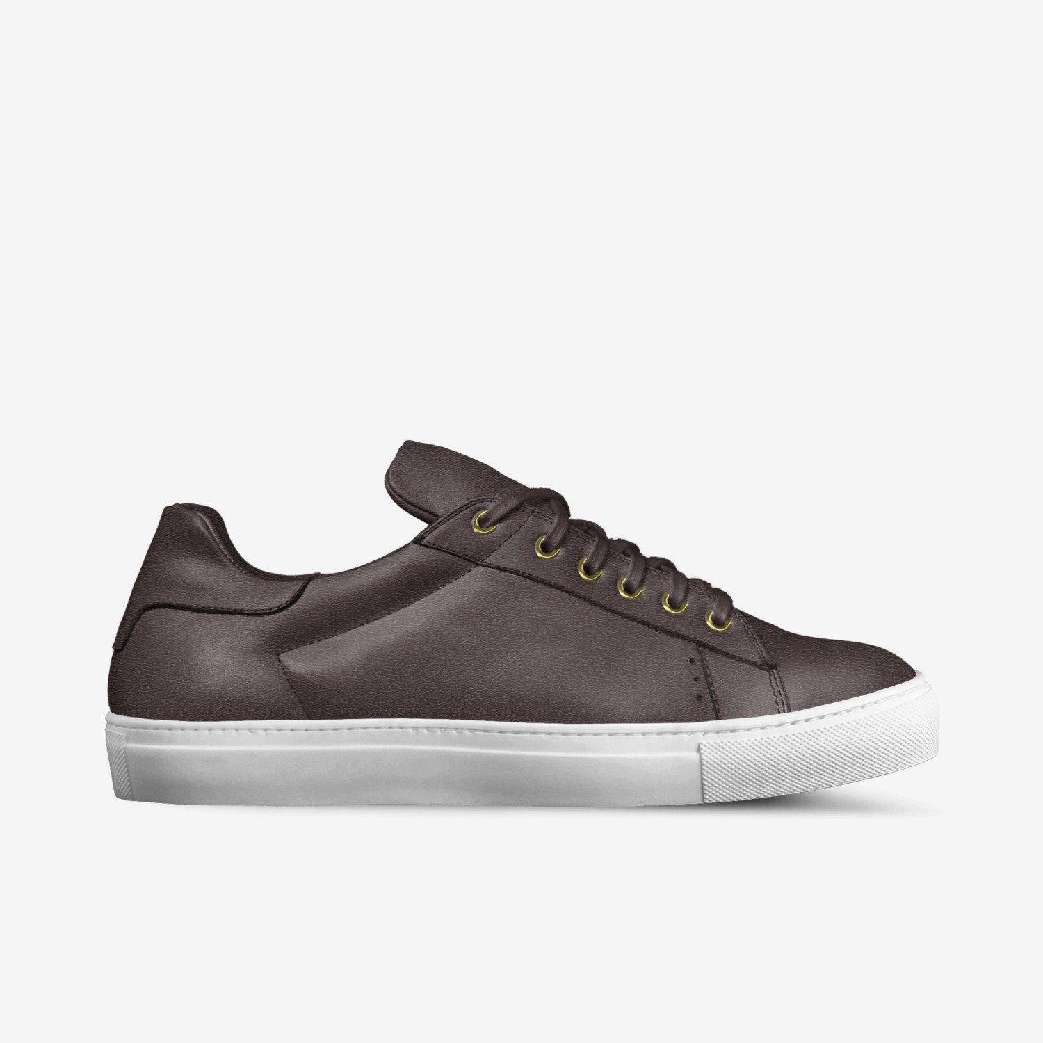 """LORENZO"" LEATHER SNEAKERS IN TOBACCO"