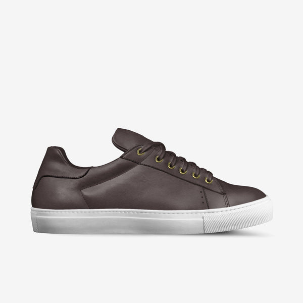 LORENZO LEATHER SNEAKERS IN TOBACCO | Poor Little Rich Boy Clothing
