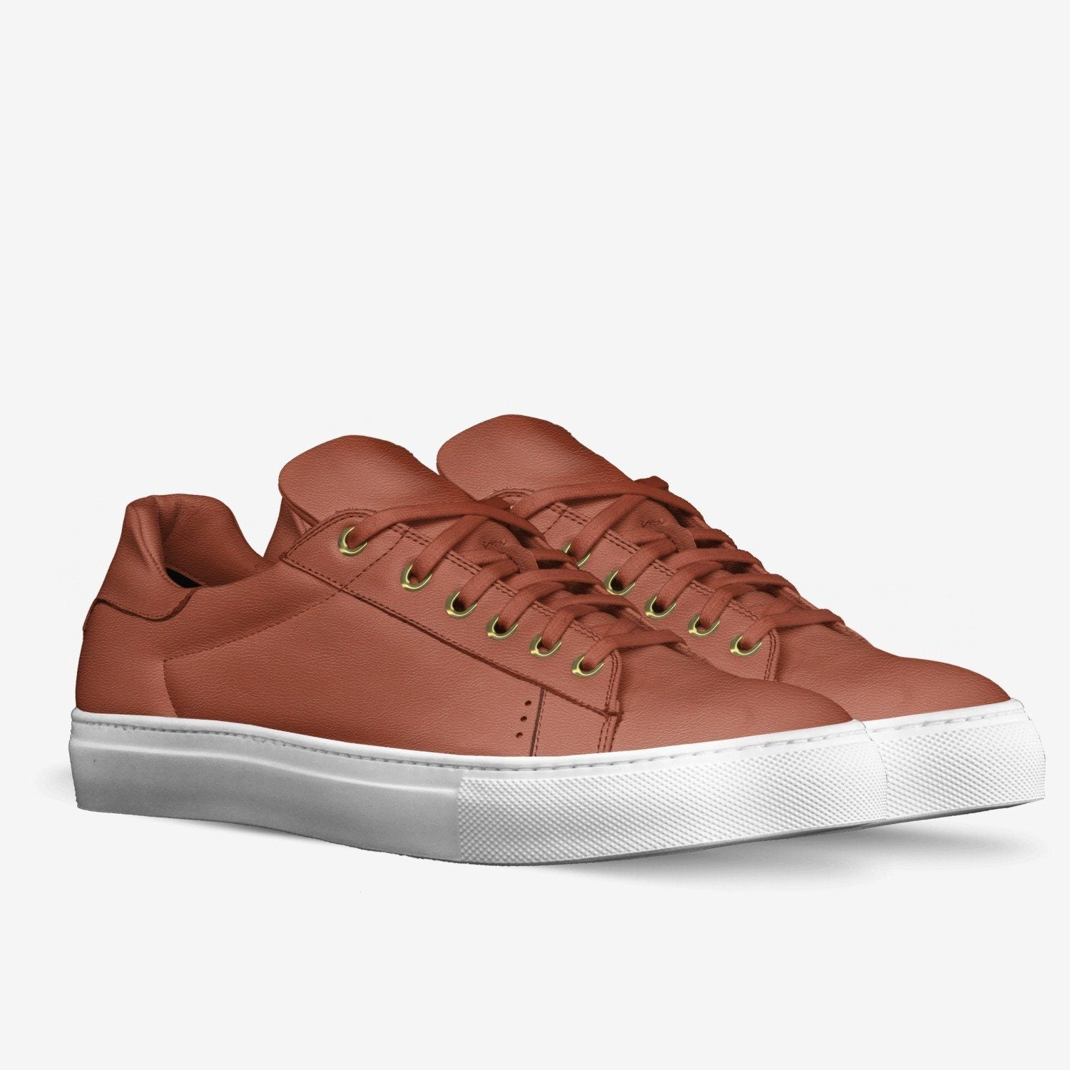 """LORENZO"" LEATHER SNEAKERS IN VERMILLION"