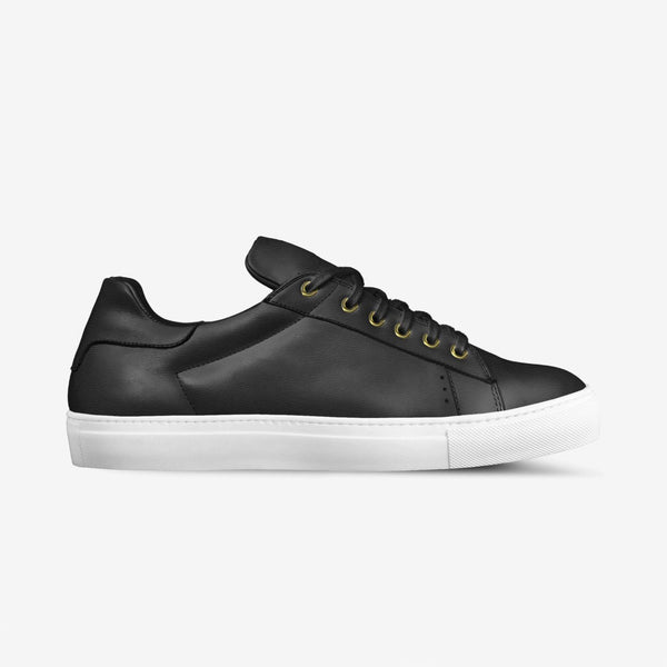 LORENZO LEATHER SNEAKERS IN BLACK | Poor Little Rich Boy Clothing