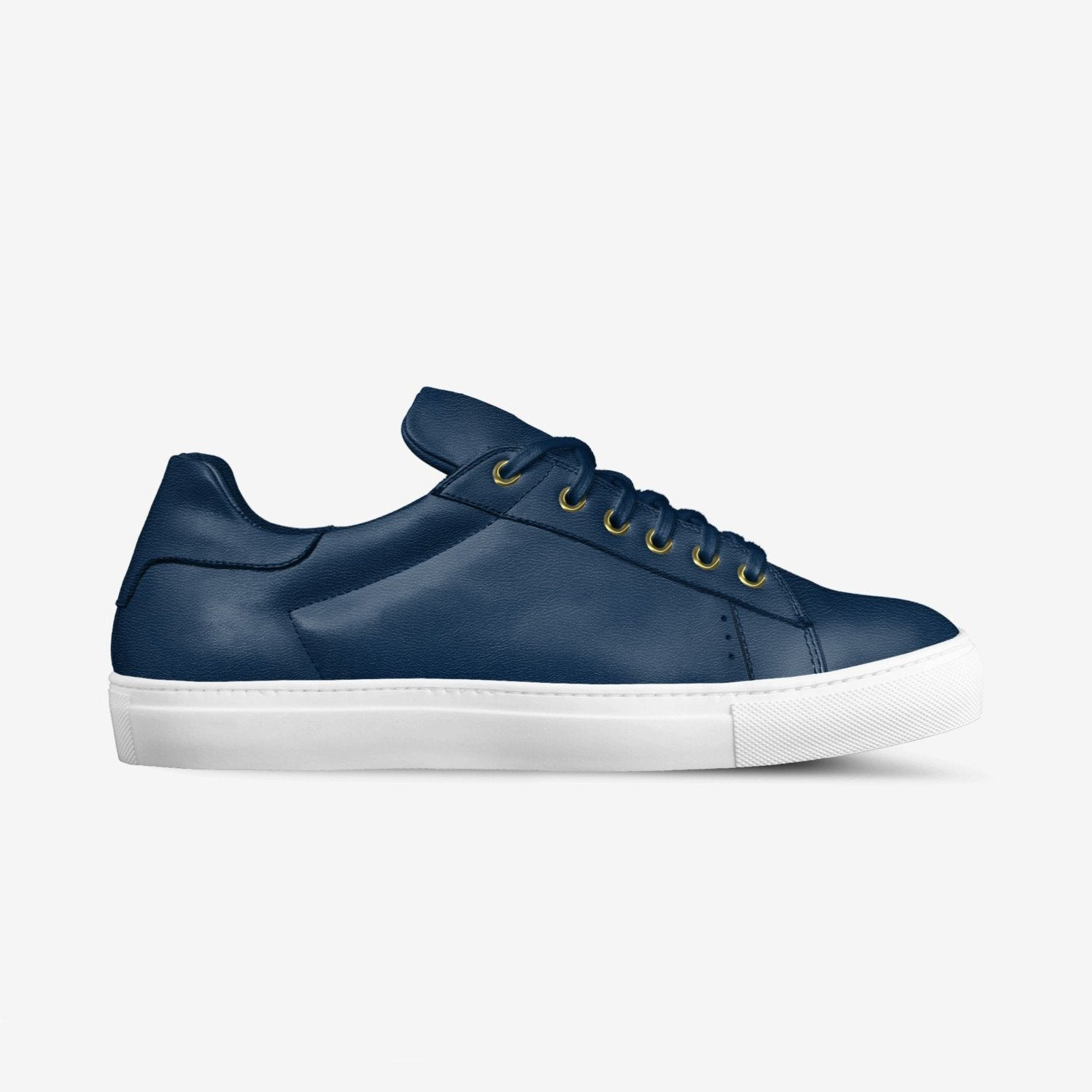 LORENZO LEATHER SNEAKERS IN MIDNIGHT BLUE | Poor Little Rich Boy Clothing