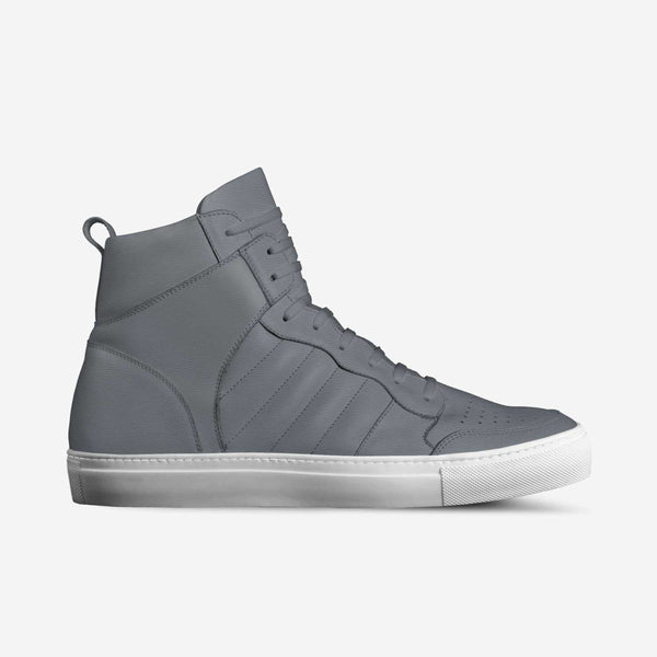KNOXX HI TOP SNEAKERS IN SMOKE (GREY) | Poor Little Rich Boy Clothing