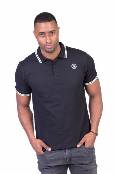 """BELVEDERE"" POLO SHIRT IN BLACK - Poor Little Rich Boy"