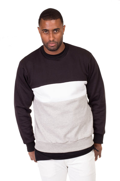 Colorblock Sweatshirt - Poor Little Rich Boy Men's Jackets and Outerwear - Plrbclothing.com