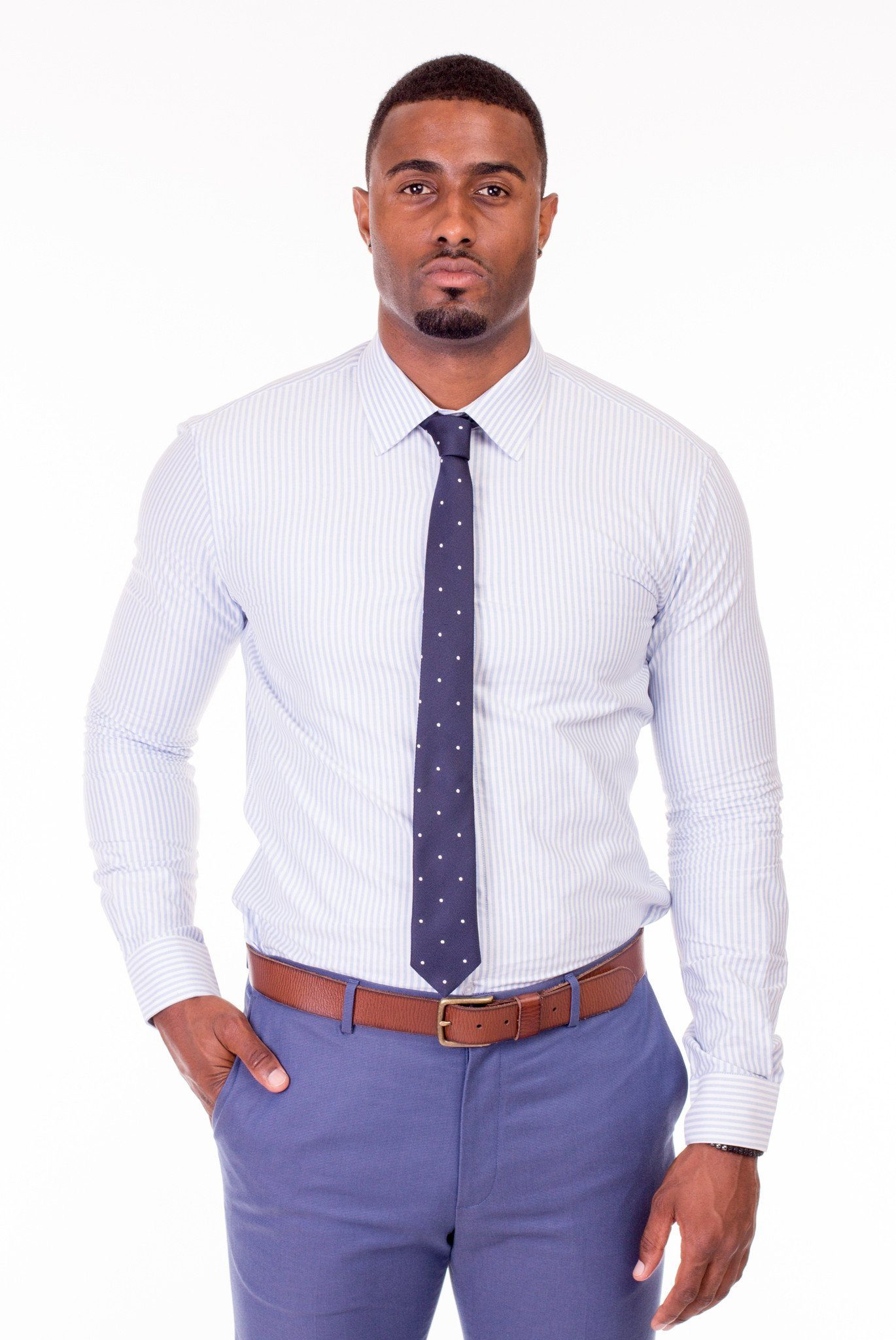 Aston Fine Striped Dress Shirt - Poor Little Rich Boy Custom Men's Dress Shirts - Plrbclothing.com