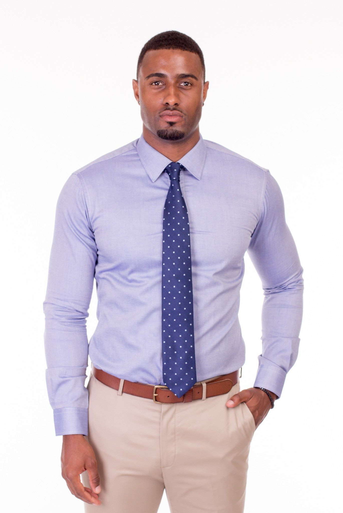 SLICK BLUE DRESS SHIRT | Poor Little Rich Boy Clothing