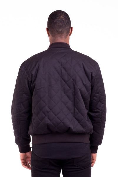 6682d0a32 ACE BLACK QUILTED BOMBER JACKET