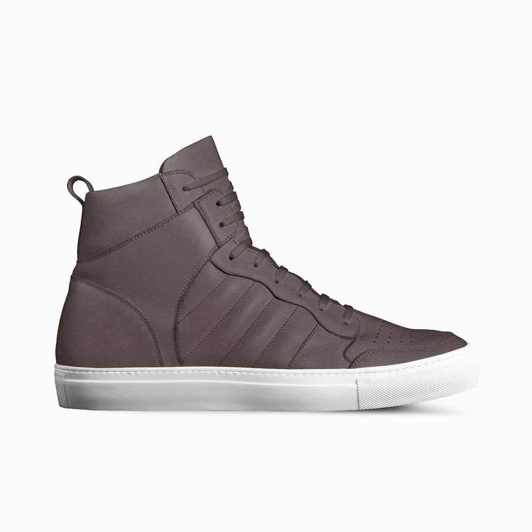 KNOXX HI TOP SNEAKERS IN CHOCOLATE (BROWN) | Poor Little Rich Boy Clothing