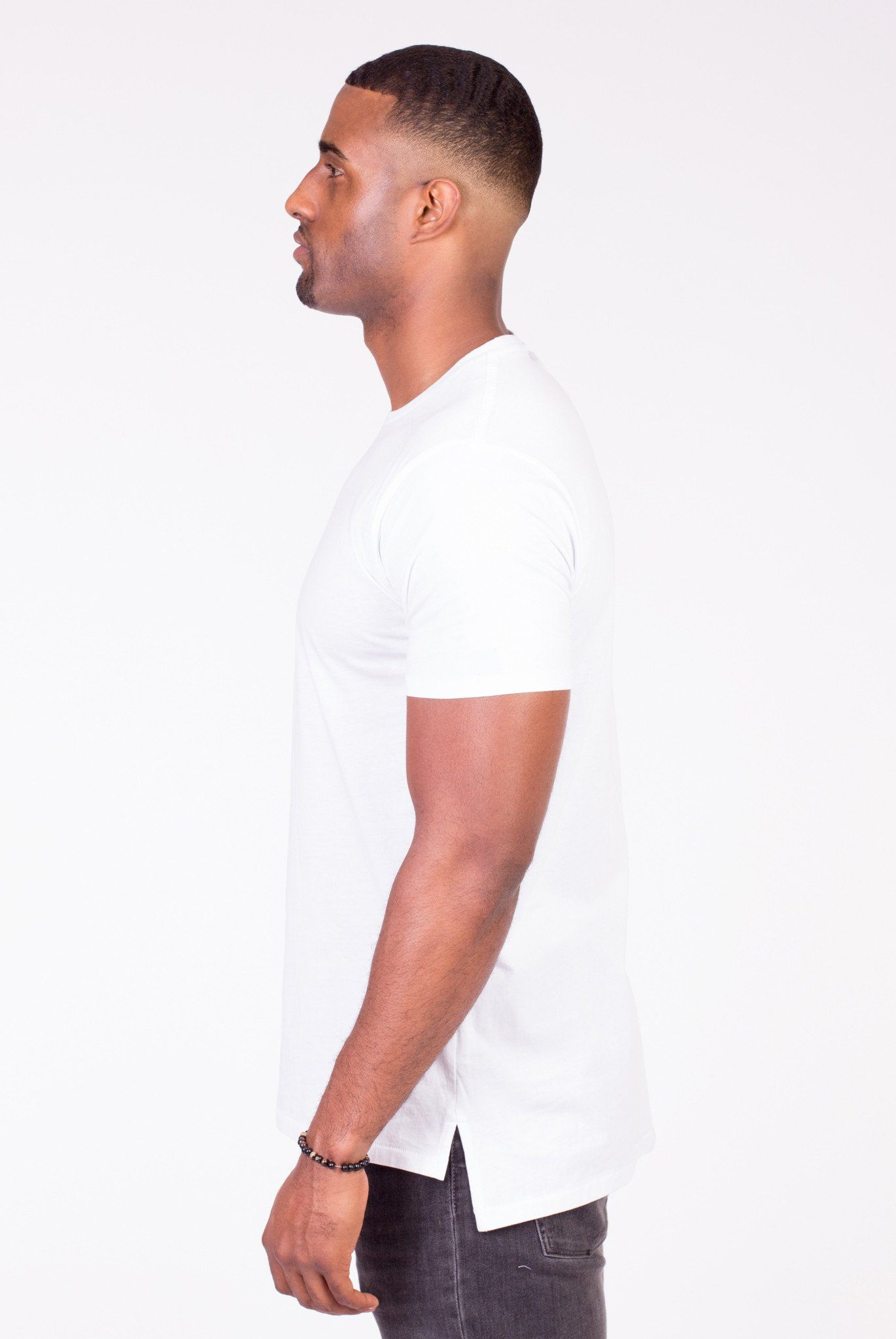 DROP TAIL T-SHIRT IN WHITE