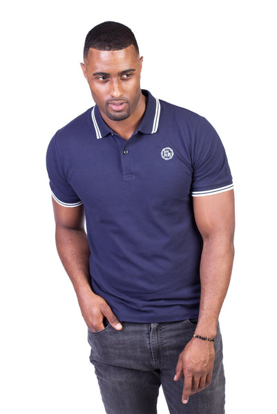 BELVEDERE POLO SHIRT IN NAVY BLUE | Poor Little Rich Boy Clothing