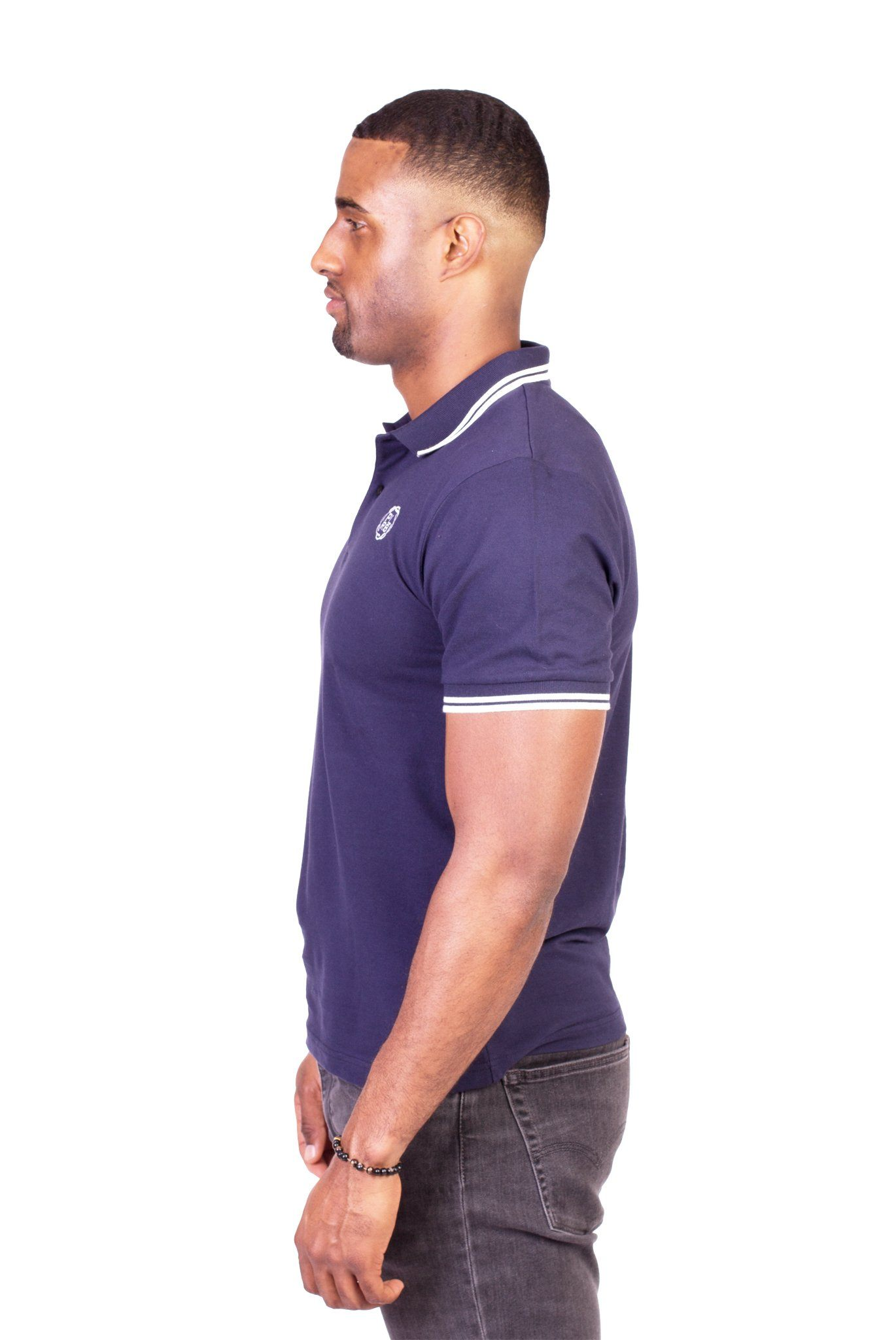"""BELVEDERE"" POLO SHIRT IN NAVY BLUE - Poor Little Rich Boy"