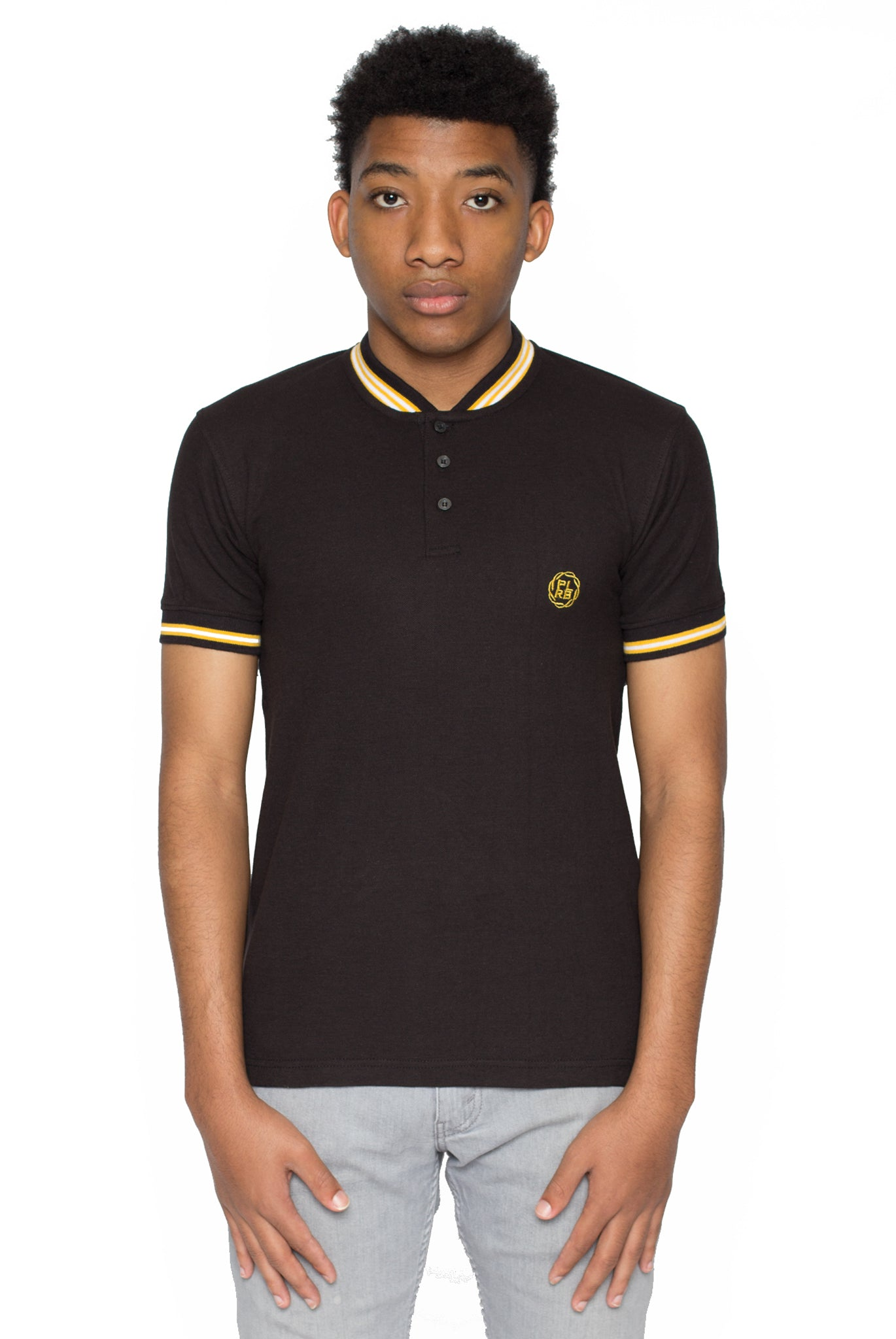 YOUNTVILLLE POLO SHIRT IN BLACK | Poor Little Rich Boy Clothing