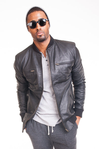 Lambskin Leather Bomber Jacket - Poor Little Rich Boy Men's Jackets and Outerwear - Plrbclothing.com