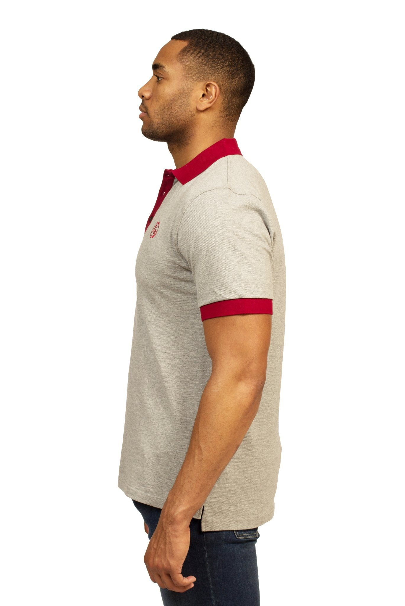HEALDSBURG POLO SHIRT IN HEATHER GREY | Poor Little Rich Boy Clothing